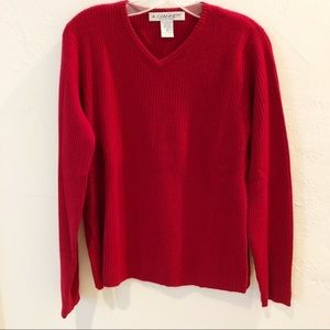 Dark red 100% cashmere sweater.